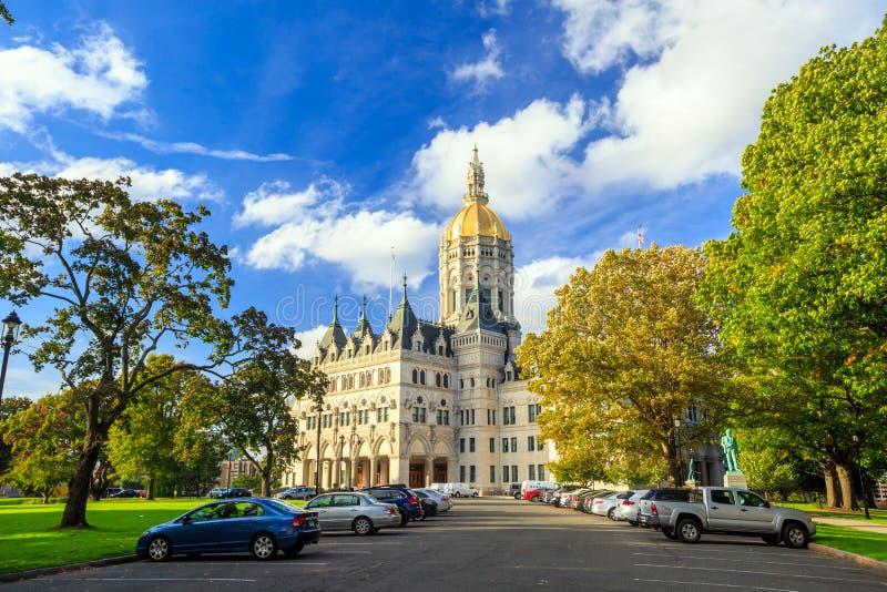 Staat Connecticut-Kapitol in Hartford, Connecticut lizenzfreies stockfoto