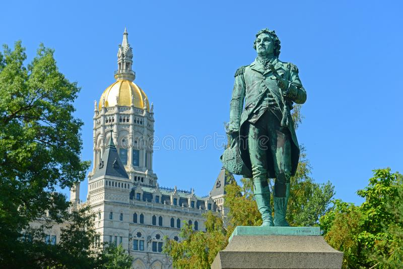 Staat Connecticut-Kapitol, Hartford, CT, USA lizenzfreies stockfoto