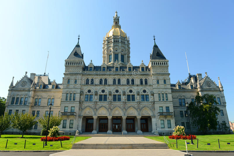 Staat Connecticut-Kapitol, Hartford, CT, USA stockfotografie