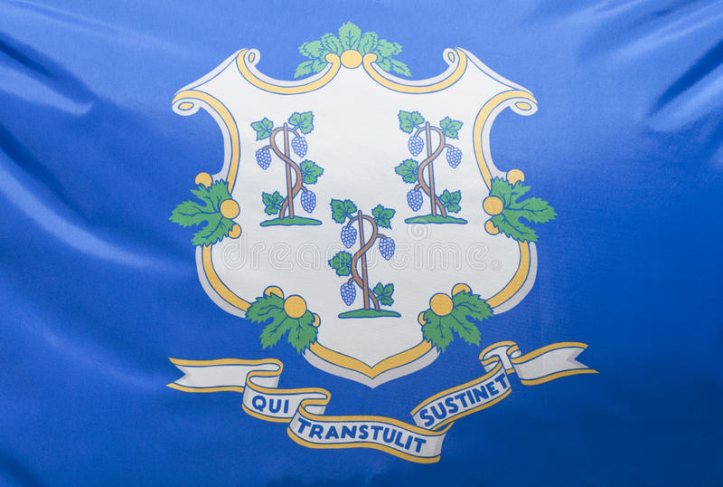 Staat Connecticut-Markierungsfahne lizenzfreie stockfotos
