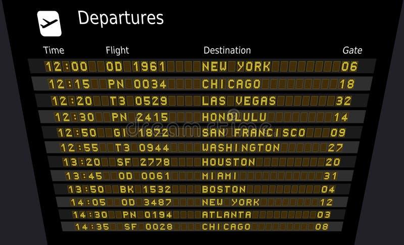 Staat-Flughäfen vektor abbildung