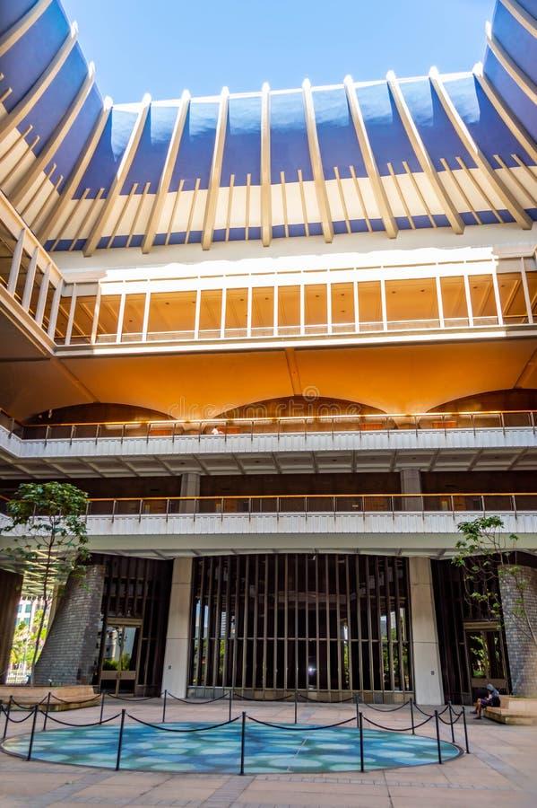Staat Hawaiis-Kapitol-Innenraum stockbild