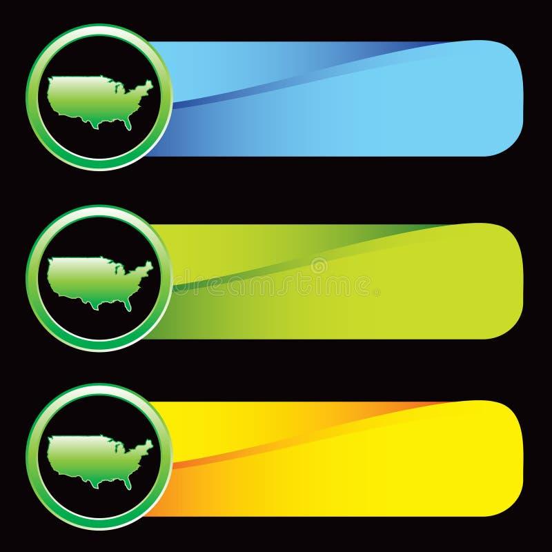 Staat-Ikone auf farbigen Tabulatoren stock abbildung