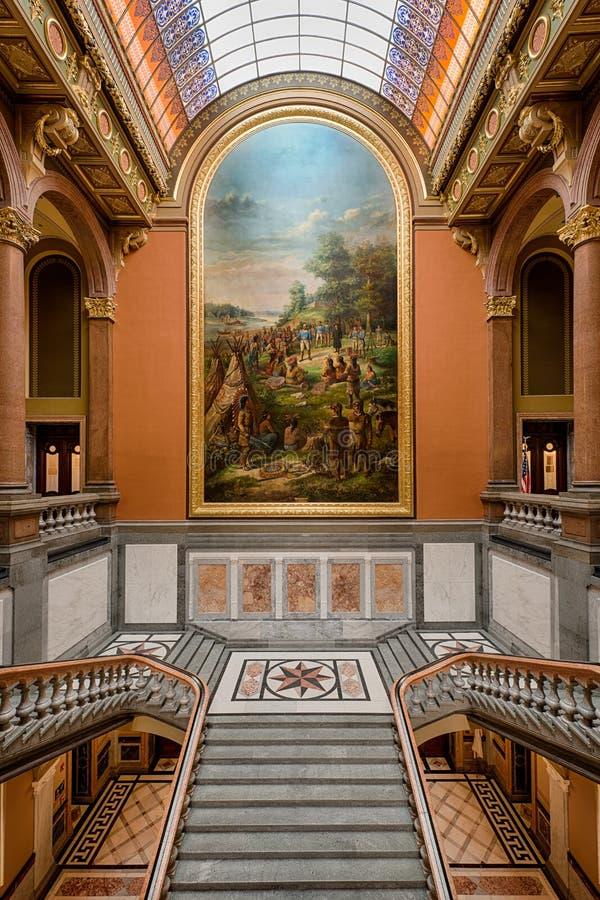 Staat Illinois-Kapitol lizenzfreie stockfotos