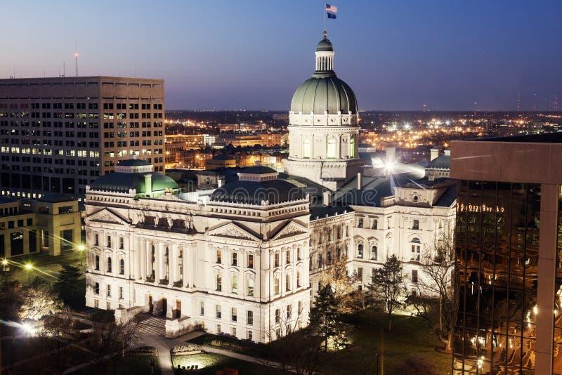 Staat Indiana-Kapitol-Gebäude lizenzfreies stockbild