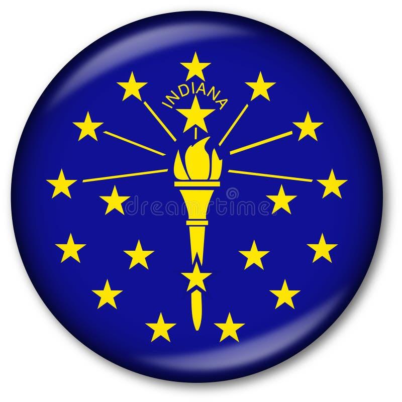 Staat Indiana-Markierungsfahnen-Taste vektor abbildung