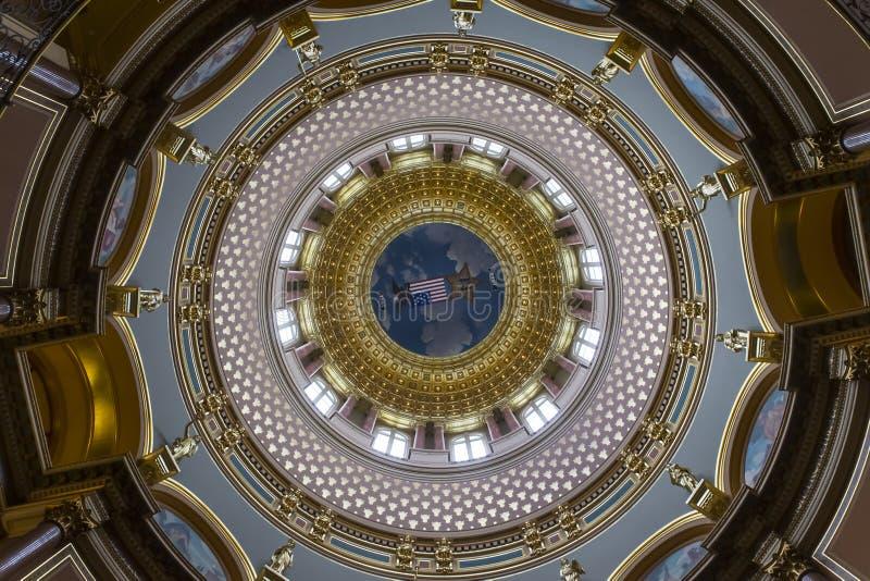 Staat Iowas-Kapitol stockbilder
