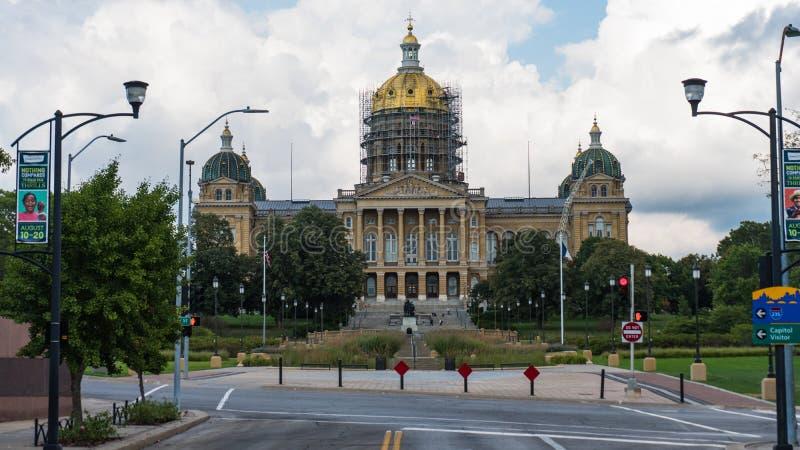 Staat Iowas-Kapitol-Gebäude lizenzfreies stockbild