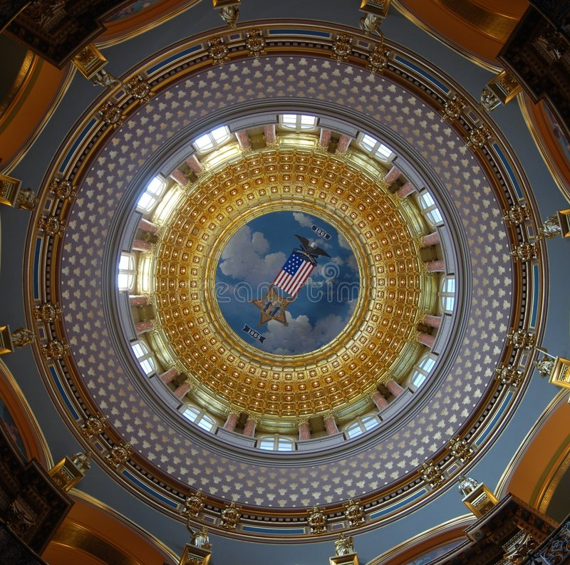 Staat Iowas-Kapitol-Gebäude Rundbau stockfotografie