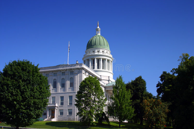Staat Maine-Haus, Augusta lizenzfreie stockfotos