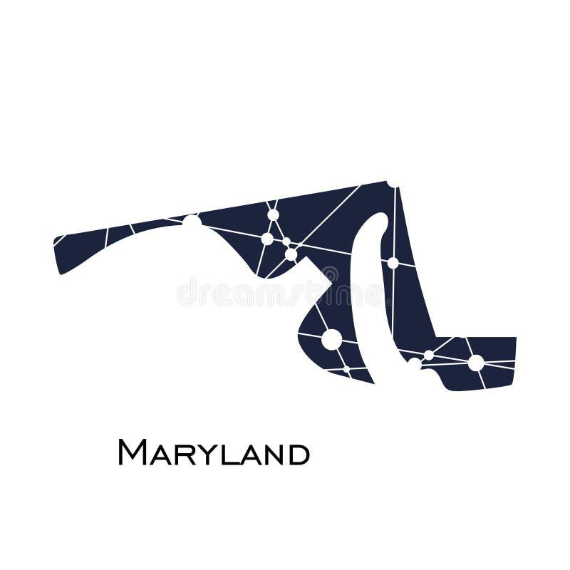Staat Maryland-Karte vektor abbildung