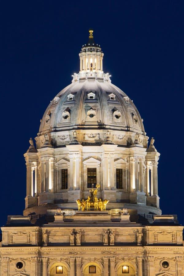 Staat Minnesota-Kapitol stockfotos