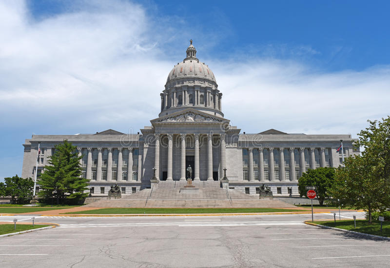 Staat Missouri-Kapitol in Jefferson City lizenzfreies stockbild