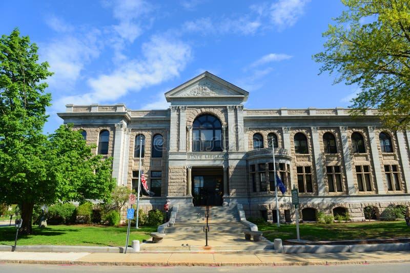 Staat New Hampshire-Bibliotheks-Gebäude, Übereinstimmung, USA stockfotos