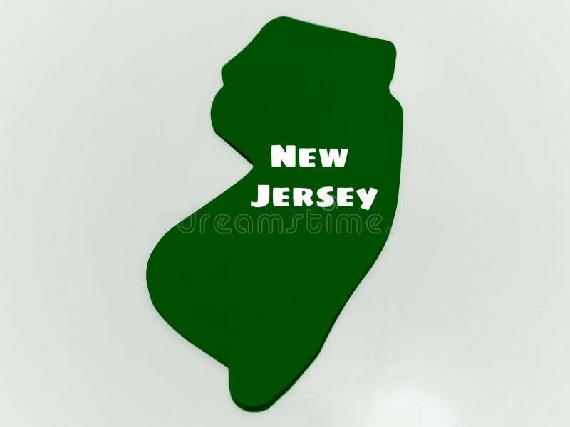Staat New Jersey-Form im Grün auf weißem Hintergrund vektor abbildung