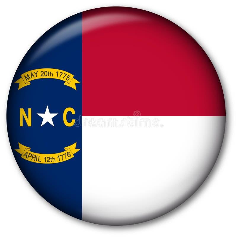 Staat North Carolina-Markierungsfahnen-Taste vektor abbildung