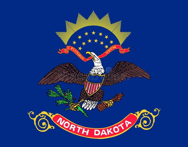 Staat North Dakota-Markierungsfahne Staaten von Amerika lizenzfreie abbildung