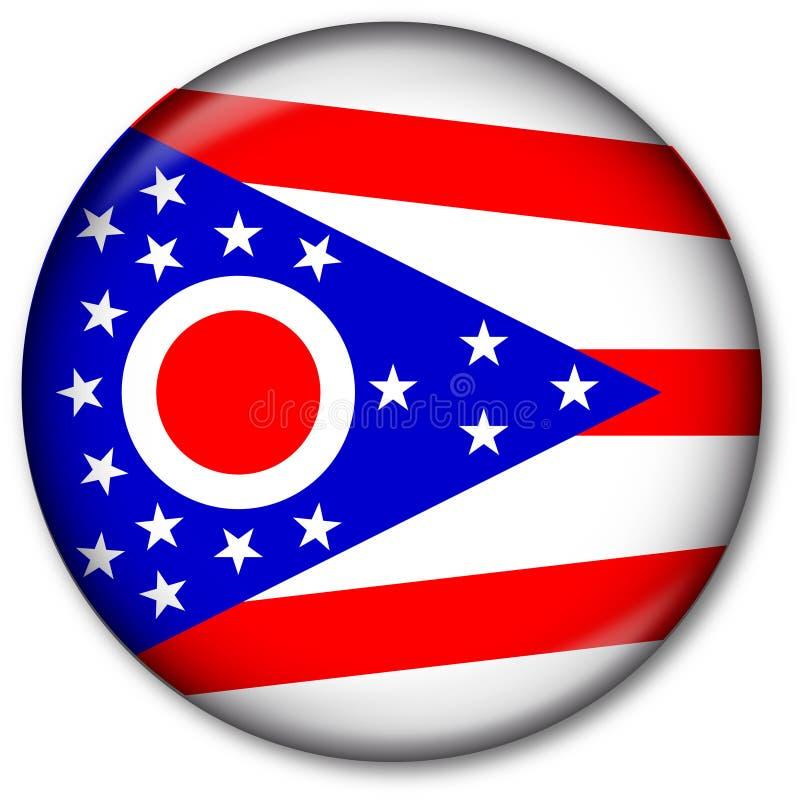Staat Ohio-Markierungsfahnen-Taste vektor abbildung