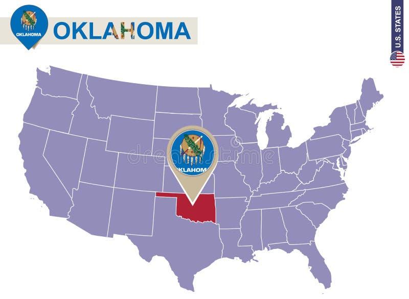 Be-ryl Flagge von Oklahoma Bundesstaat der Vereinigten Staaten Halsw/ärmer Sturmhaube Kapuze Gesichtsschutz Gesichtsmaske Halsmanschette
