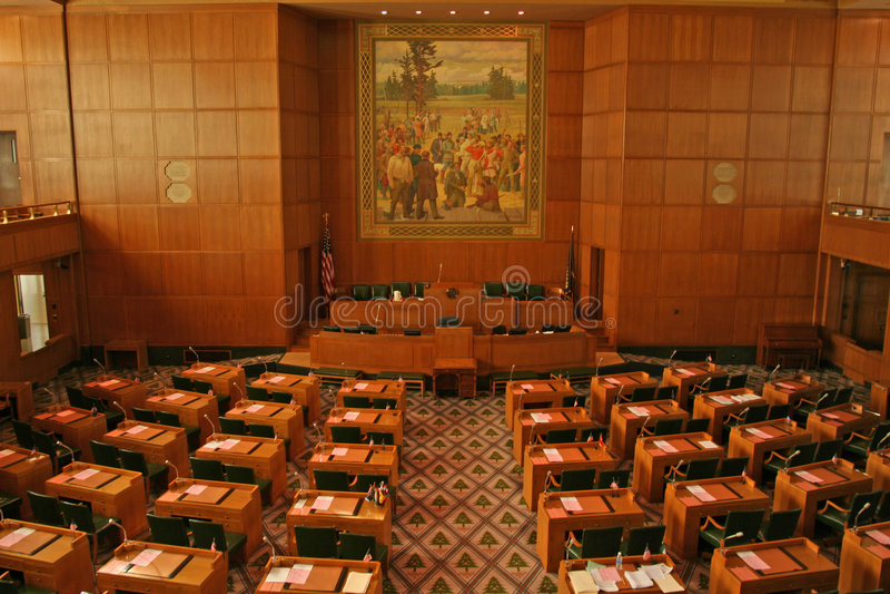 Staat Oregon-Kapitol lizenzfreies stockbild