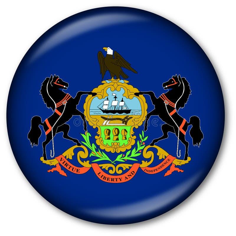 Staat Pennsylvania-Markierungsfahnen-Taste vektor abbildung