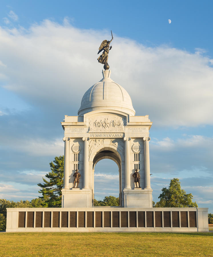 Staat Pennsylvania-Monument in Gettysburg stockbilder