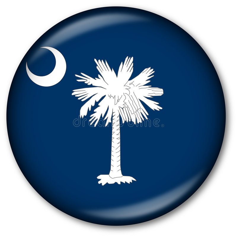 Staat South Carolina-Markierungsfahnen-Taste vektor abbildung