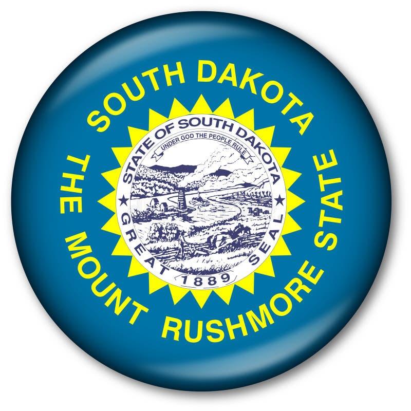 Staat South Dakota-Markierungsfahnen-Taste vektor abbildung