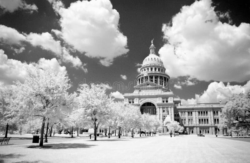Staat Texas-Kapital im Infrarot stockbild