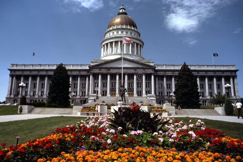 Staat Utah-Kapitol-Gebäude stockfoto