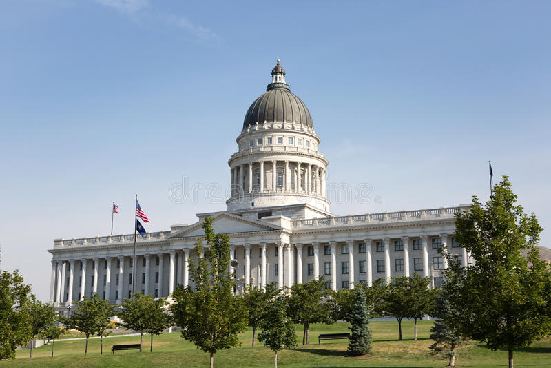 Staat Utah-Kapitol-Gebäude stockbilder