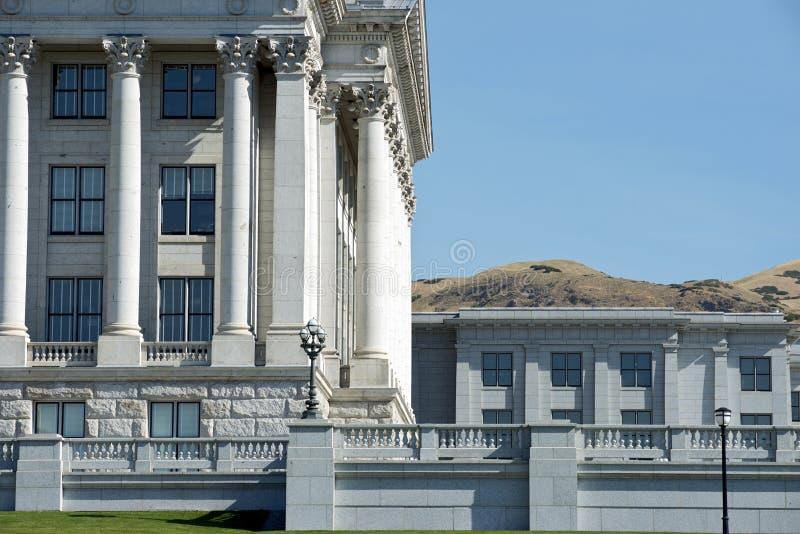 Staat Utah-Kapitol-Ostecke stockfotografie