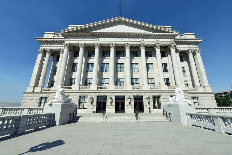 Staat Utah-Kapitol-Osteingang stockbild