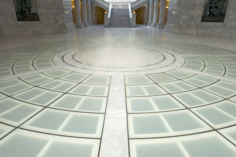 Staat Utah-Kapitol-Rundbauboden lizenzfreies stockbild