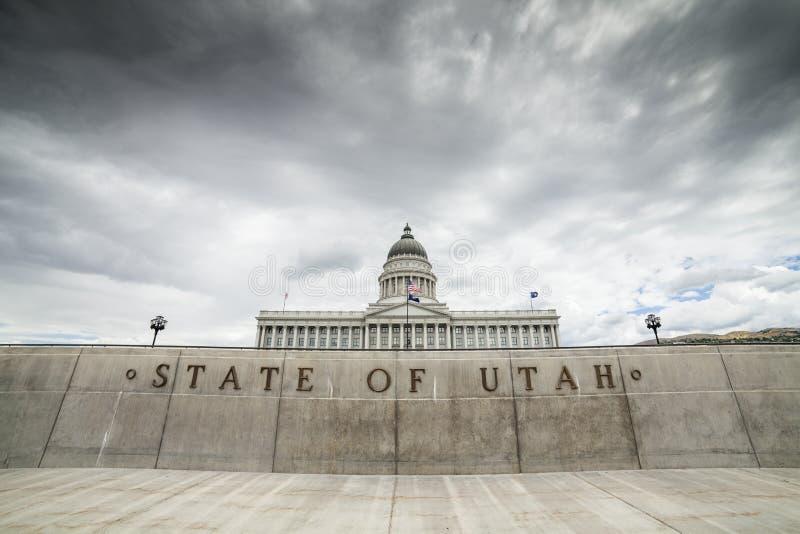 Staat Utah-Kapitol, Salt Lake City lizenzfreies stockbild