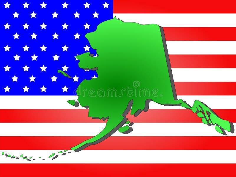 Staat van Alaska royalty-vrije illustratie
