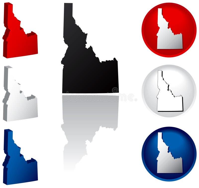 Staat van de Pictogrammen van Idaho vector illustratie