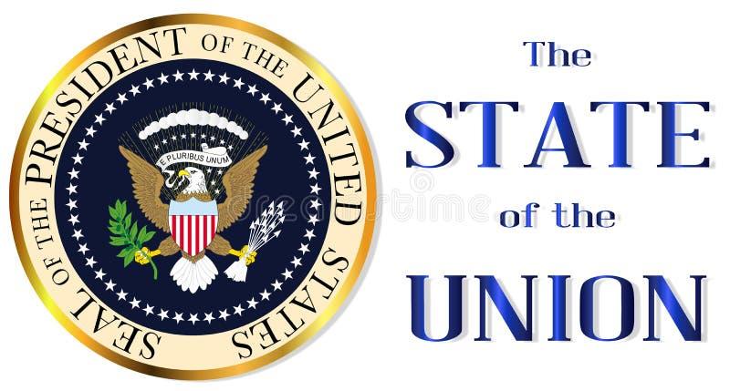Staat van de Unie Isolatie stock illustratie