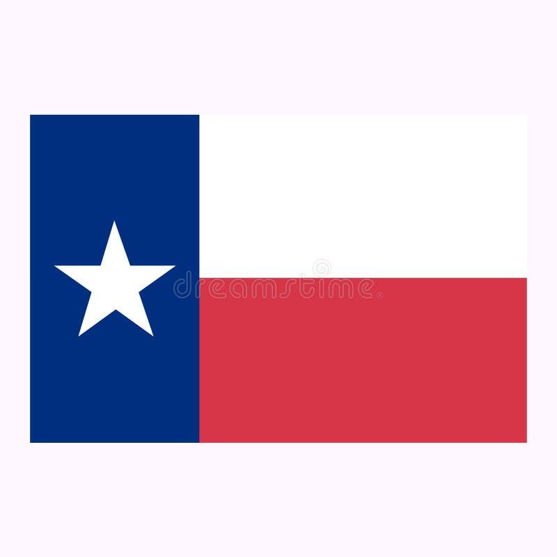 Staat van de vlag van Texas Vector illustratie royalty-vrije illustratie