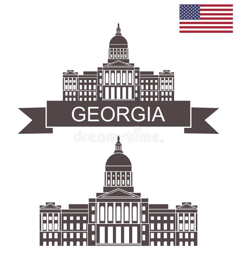 Staat van Georgië De Bouw van het Capitool van de Staat van Georgië atlanta royalty-vrije illustratie