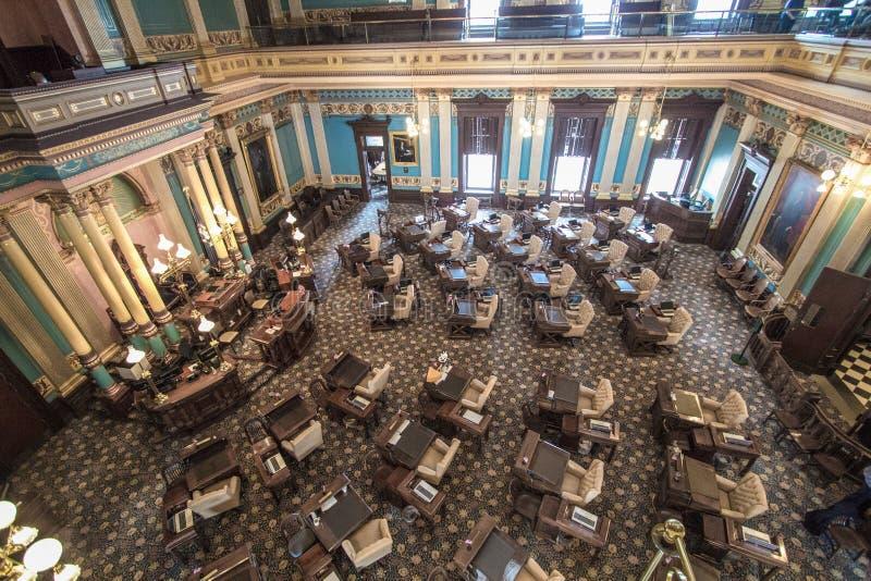Staat van het Binnenland van het Huis van Afgevaardigdenkamers van Michigan stock afbeelding