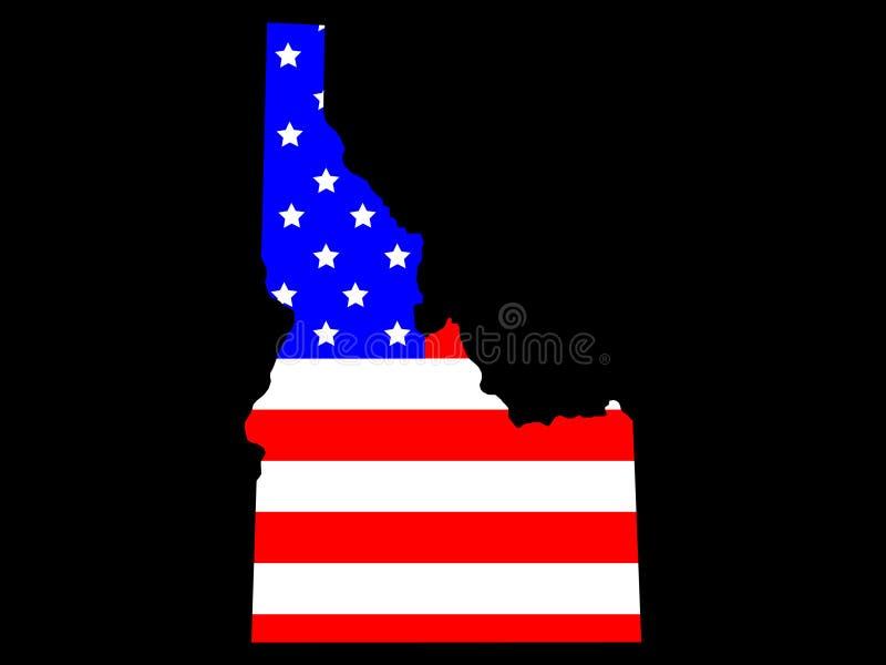 Staat van Idaho royalty-vrije illustratie