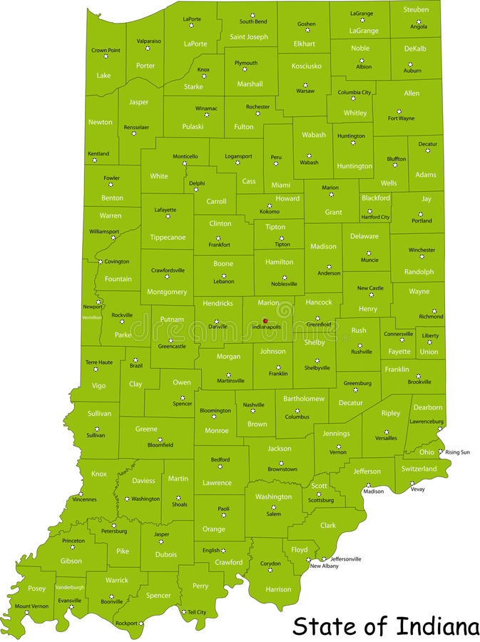Staat van Indiana stock illustratie