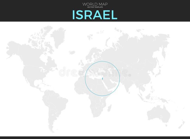 Staat van Israel Location Map royalty-vrije illustratie