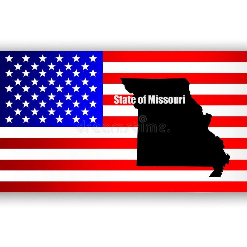 Staat van Missouri royalty-vrije illustratie