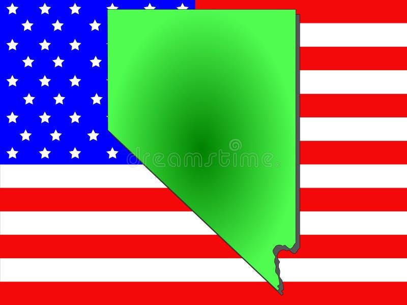 Staat van Nevada royalty-vrije illustratie