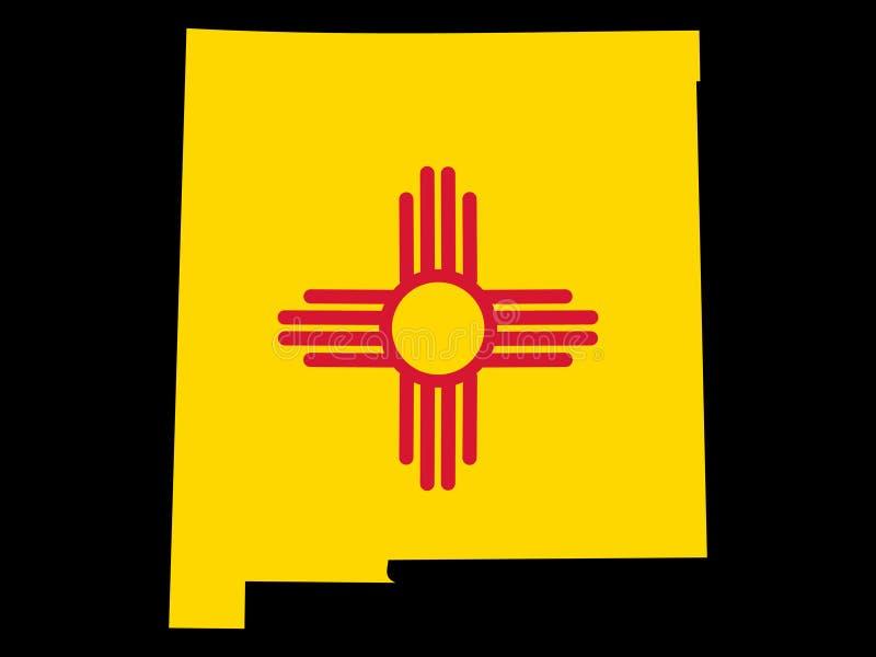 Staat van New Mexico stock illustratie