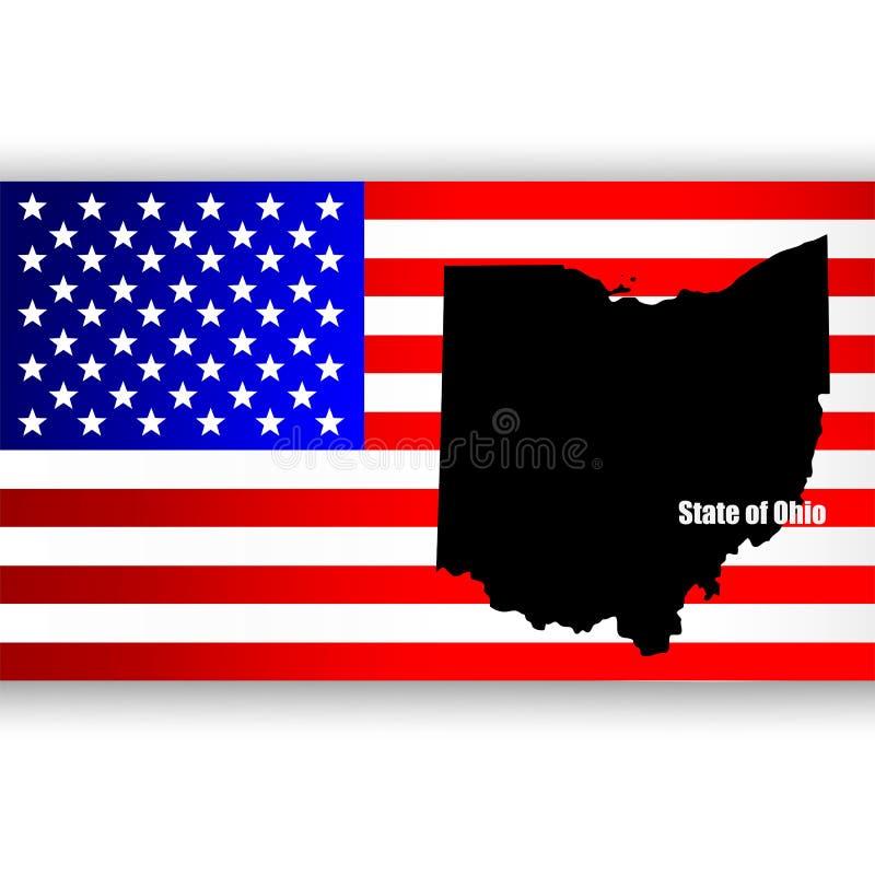 Staat van Ohio stock illustratie