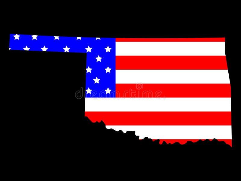 Staat van Oklahoma vector illustratie