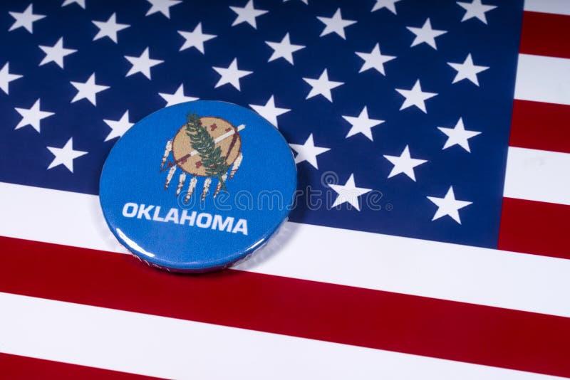 Staat van Oklahoma in de V.S. stock afbeelding